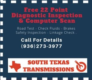 Transmission Repair Shop Spring TX Free Diagnostics Check Coupon